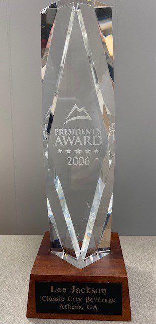 2006 Coors President Award